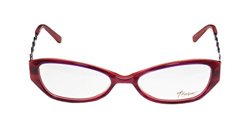 Thalia Erlene WomensLadies Rx Ready Genuine Designer Full-rim EyeglassesEyewear (52-16-135 Purple  Coral)