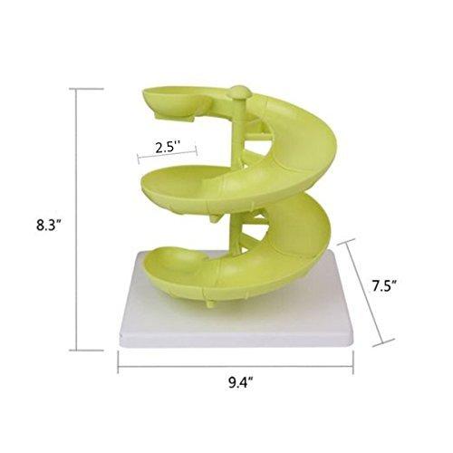 YIXIN Plastic Egg Run Basket Egg Dispenser Holder for Medium to Large Eggs with Base Green