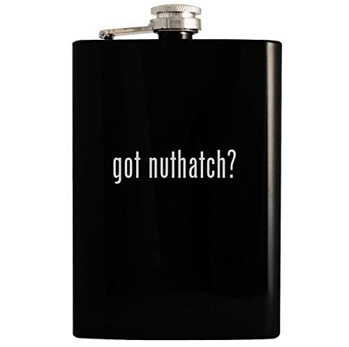 got nuthatch? - Black 8oz Hip Drinking Alcohol Flask