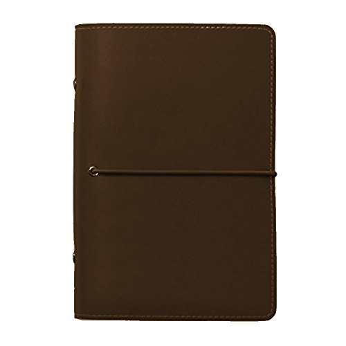 Monthly Planner Notepad Refill (Labon's 6 Round Ring Binder Hardcover Refills Planner for Monthly Weekly Daily Schedule / 2018 2019 2020 Calendar / Telephone & Address / Personal Memo 240 Pages Premium Thick Paper (A6, Brown))