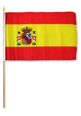 "Cheap Flags Importer STI-Spain Dozen 12×18"" Stick Flags, Multi"
