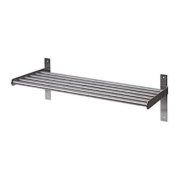 Ikea Grundtal Wandregal Aus Edelstahl Amazon De Küche Haushalt