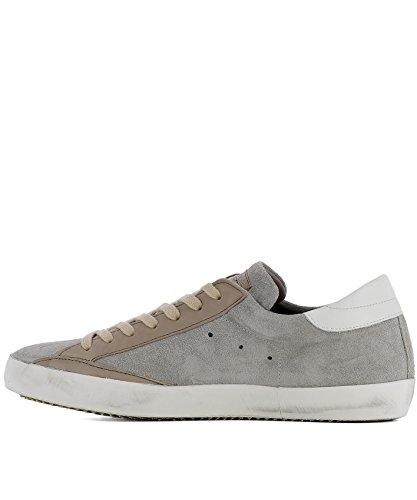 Sneakers In Pelle Scamosciata Grigio Clluxy61 Modello Philippe Uomo