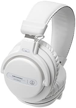 Audio-Technica ATH-PRO5XWH Professional Closed-Back Dynamic Over-Ear DJ Monitor Headphones