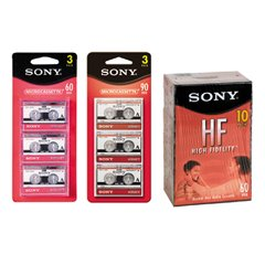 (SON8C90HFL Audio Cassettes, High Density/Normal Bias, 90 Minutes (45 x 2), 8/Pack)