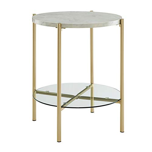 WE Furniture AZF20SRDSTMGD Side Table, 20