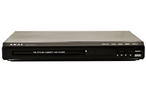 Akai ADV-6017- All Region Codefree Multi-System DVD Player 110/220V Worldwide Use. Plays DVD, SVCD, VCD, MP3, JPEG on Any TV - Remote by Akai