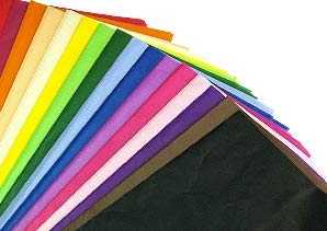 100 x Multi Coloured Tissue Paper / Gift Wrap / Wrapping Paper Sheets (20 x 30) by Swoosh Supplies from Swoosh Supplies