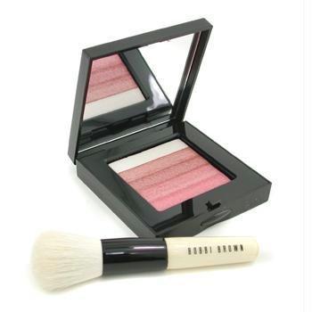 Rose Shimmer Brick Set: Rose Shimmer Brick Compact + Mini Face Blender Brush (Limited Edition) - ()
