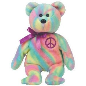 cf41fe163e3374 Image Unavailable. Image not available for. Color: TY Beanie Baby Peace Bear