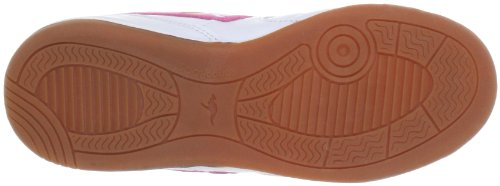 KangaROOS Ludo 11043/045 - Zapatillas de deporte para niños Blanco (Weiß (wht/lillipilli/neonyellow 67))
