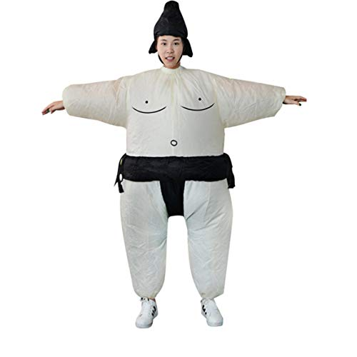 Fan Inflatable Sumo Dress Novelty Fat Man and Woman Suite Fat Masked Suit Fancy Blow Up Dress Wrestler Costume -
