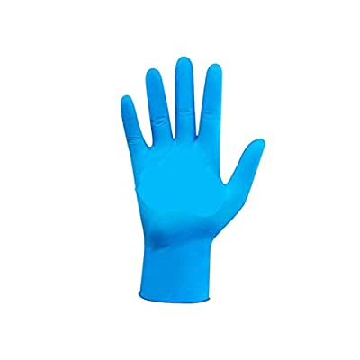 Panfinggin Disposable Nitrile Gloves, Ease of use, Powder-Free, Non-Sterile, Disposable, Blue, Box of 100 pcs: Clothing