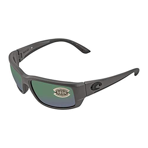 (Costa Del Mar Fantail 580G Fantail, Matte Gray Green Mirror, Green)