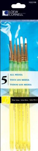 loew-cornell-5-piece-all-media-brush-set-white-nylon-round-3-5-liner-10-0-flat-4-filbert-3