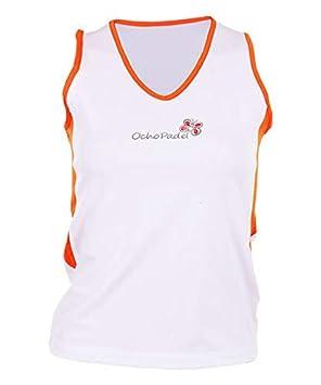 OCHO PADEL Camiseta Mangas Blanca Naranja: Amazon.es: Deportes y ...
