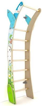 Juego de parque infantil de madera para interiores y exteriores, diseño de luna, para pared, escalera, para apartamento, escuela, habitación de los niños y sala de juegos, estilo luna, L: Amazon.es: Deportes