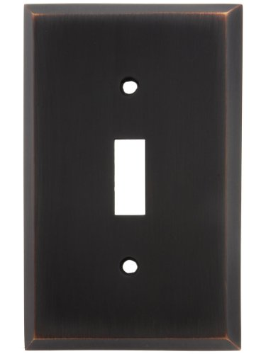 Forged Brass Single - House of Antique Hardware R-010II-FBSP-T-OB Traditional Forged Brass Single Toggle Switch Plate in Oil-Rubbed Bronze