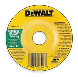 DeWalt DW4524 4-1//2 x 1//4 x 7//8 Concrete//Masonry Grinding Wheel