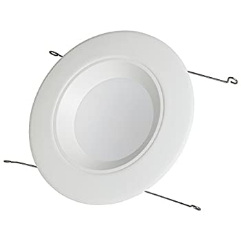 """Sunlite LFX/RDL/5/6R/18W/D/E/CW 4000K 5""""/6"""" LED Downlights Retrofit Recessed Fixture Dimmable Damp Location with Cool White, White Finish"""