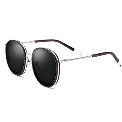 Gray Neutral Mujer Silver Polarizadas Lens Gafas Silver Color Hombre Sol LBY UV Frame Gafas Frame De Lens Gray para de Sol para Metal Frame RAwYxUFqx