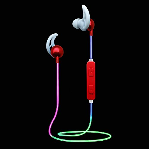 LED Bluetooth Headphones Light up Sport Glow in the Dark Mobile Phone Color Changing Wireless Earphones for All Mobile Phones