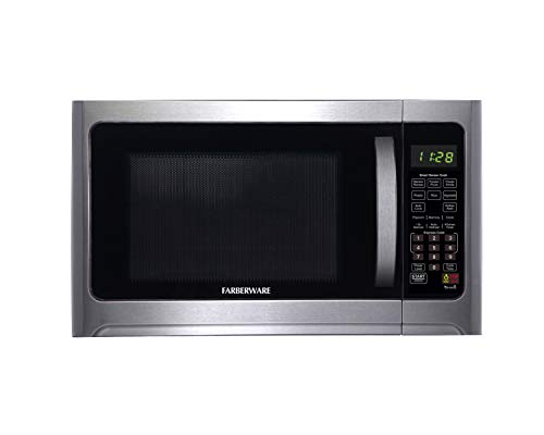 Farberware FMO12AHTBKE 1.2-Cu. Ft. 1100-Watt Microwave Oven With Sensor Cooking, Stainless Steel
