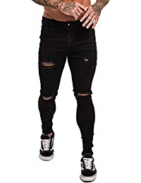 Skinny Jeans for Men Stretch Slim Fit Ripped Distressed