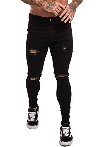 - 315FSx6gmcL - GINGTTO Skinny Jeans for Men Stretch Slim Fit Ripped Distressed