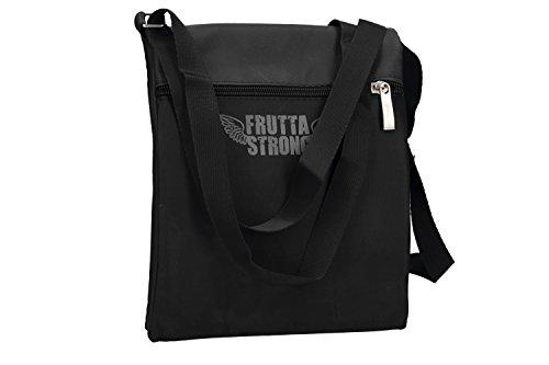 Bandolera VF381 hombre bolsa negro bandolier plana FRUTTA FFwTqHr