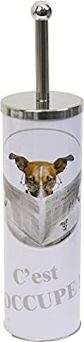 EVIDECO 6619383 Karamel Free Standing Toilet Brush/Holder, White