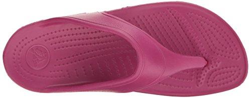 Crocs Sloane Platform, Sandalias Flip-Flop para Mujer, Rosso (Berry), 34-35 EU