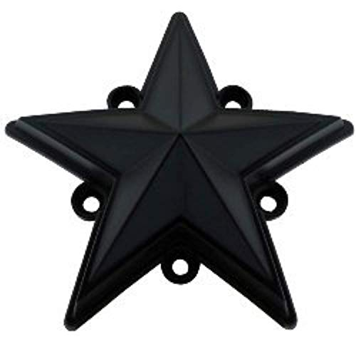 XD Series by KMC Wheels XDSTAR-MB-PK BLACK XD SERIES COLORED REPLACEMENT STAR FOR ROCKSTAR CAPS (5 PACK) ()