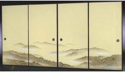 太陽 襖紙 4枚組 4枚柄織物高級 ふすま紙 P-1609