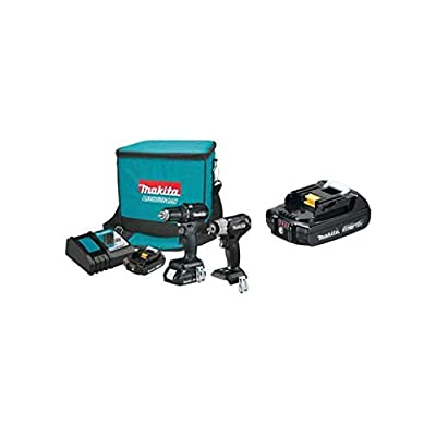 Makita CX201RB 18V LXT Sub-Compact BL Brushless 2-Pc. Combo Kit and BL1820B 18V Compact Lithium-Ion Battery (2.0Ah)