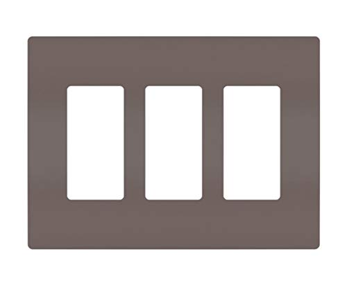 (Legrand - Pass & Seymour radiant RWP263 Three-Gang Screwless Wall Plate, Brown)