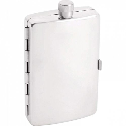 Flask Cigarette Holder - Maxam 2.5oz Stainless Steel Flask with Cigarette Holder