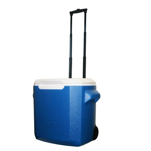 Coleman 28-Qt Wheeled Cooler, Blue