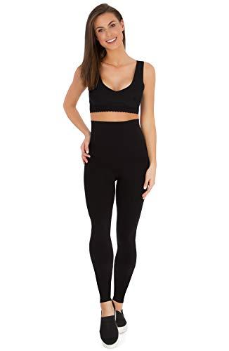 b92e4354856519 Belly Bandit - Mother Tucker Leggings for Women - Slim and Shape Your  Silhouette - Black