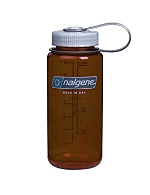 Nalgene Tritan Wide Mouth BPA-Free Water Bottle, 32 Oz, Rustic Orange