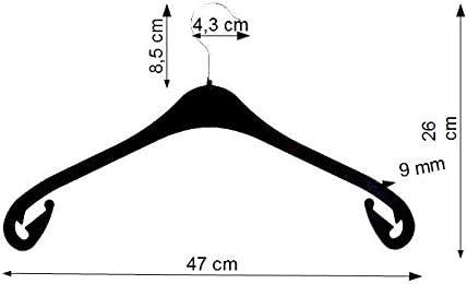 Hagspiel cintres en plastique noir rockhaken 43 cm lot de 20