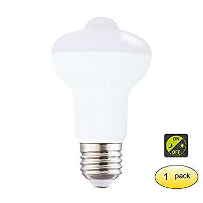 65W Equivalent Dusk TO Dawn LED Infrared Motion Sensor Light Bulb,Detection Auto Switch LED Sensor Light Bulb 120 Volt 500 Lumens E26 Base PIR LED Sensor Bulb For Stairs Toilet Walkway Garage