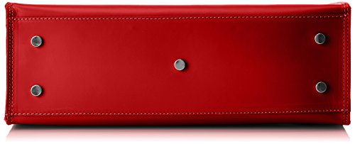 Chicca Borse 8653, Borsa a Mano Donna, 35x36x12 cm (W x H x L) Rosso (Red)