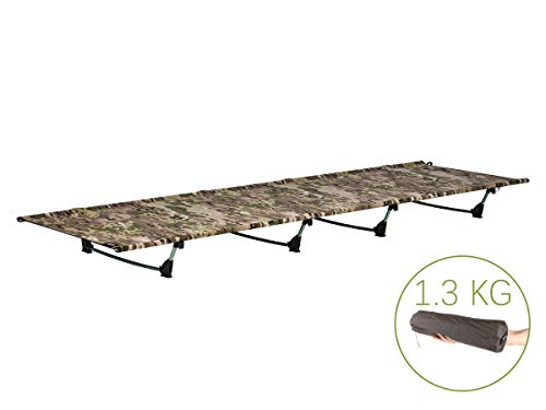 DESERT WALKER Camping Cots, Outdoor Bed Ultra Lightweight Bed Portable cot Free Storage Bag Included,2.8 Pounds (Camouflage) (Camouflage)