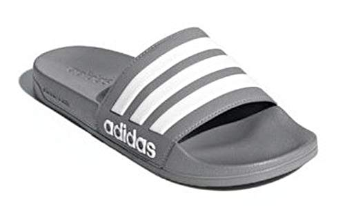 meet 176f9 ab8bf adidas Men s Adilette Shower Slide Sandal grey white grey, 9 M US