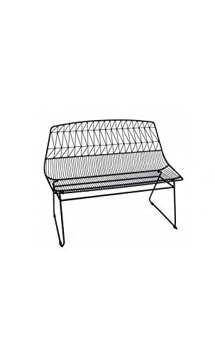 Socadis–Bank aus Metall schwarz Art-Eisen