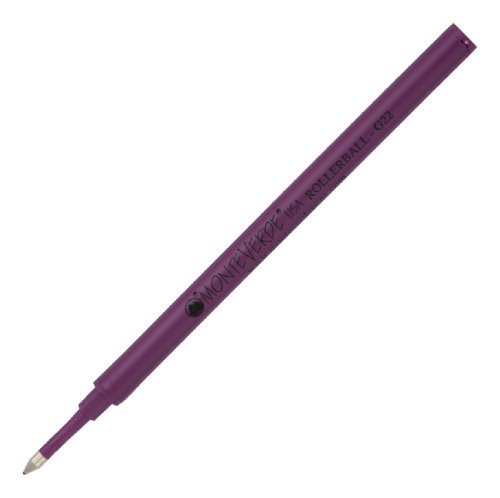 Monteverde Ceramic Rolleball Refill to Fit Most Rollerball Pens, Fine Point, Purple, 2 per Pack (G222PL)