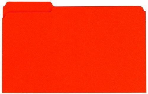 Globe-Weis Colored File Folders, 1/3 Cut, Reinforced Tab, Legal Size, Orange, 100-Count (18534) by Globe Weis