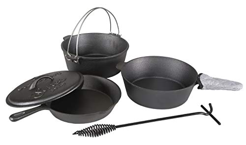 Stansport Cast Iron 6 Piece Cookware Set