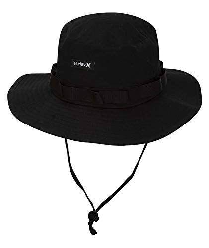 Hurley Men's Vagabond Bucket Sun Hat, Black, L-XL (Women Hat Hurley)